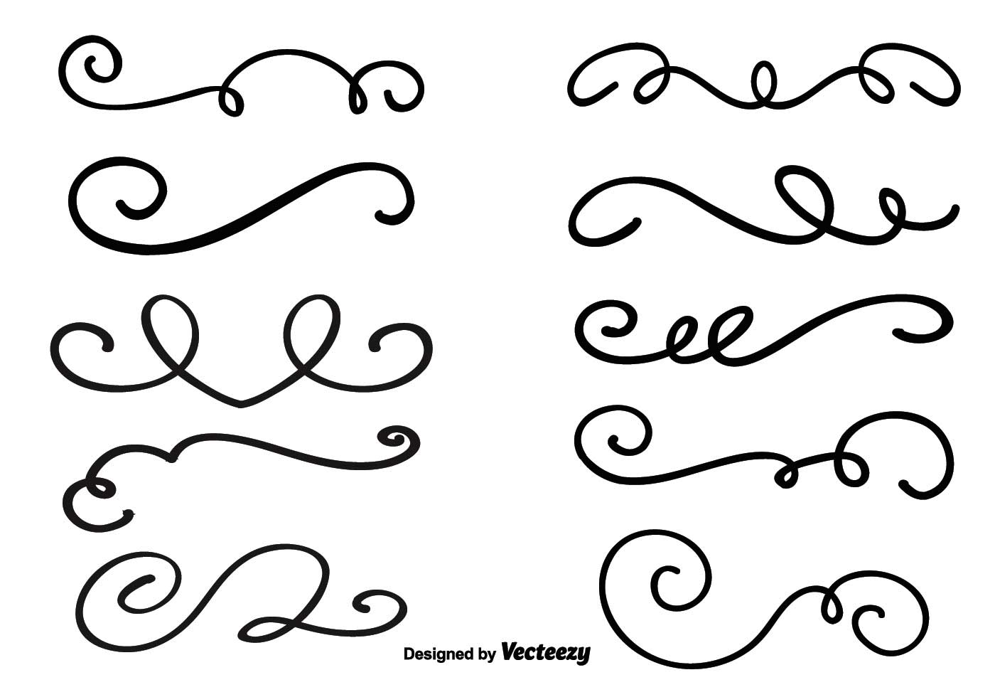 Simple Decorative Line Clipart : Elegant swirl free vector art downloads