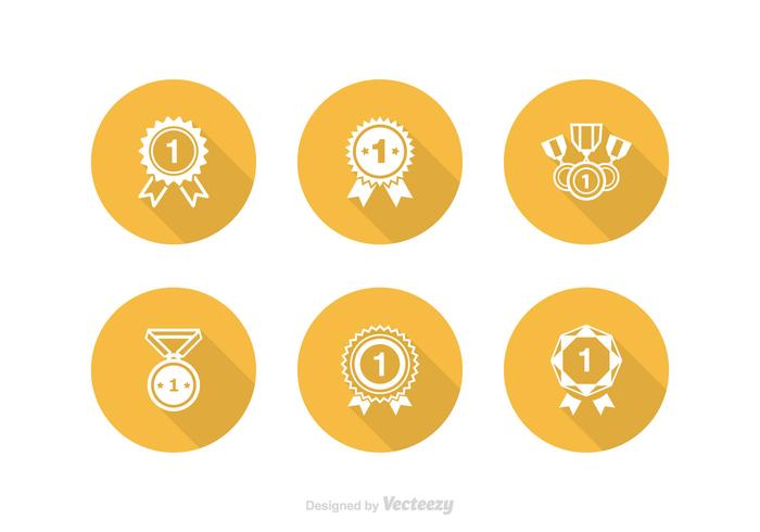 Free First Place Ribbon Vector Icon Set