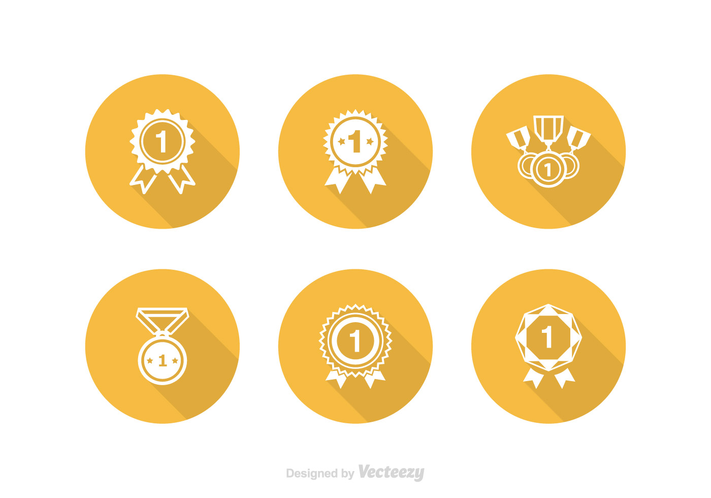 Free First Place Ribbon Vector Icon Set - Download Free Vector Art ...