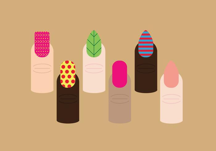 Manicure Nails Pack Vectors