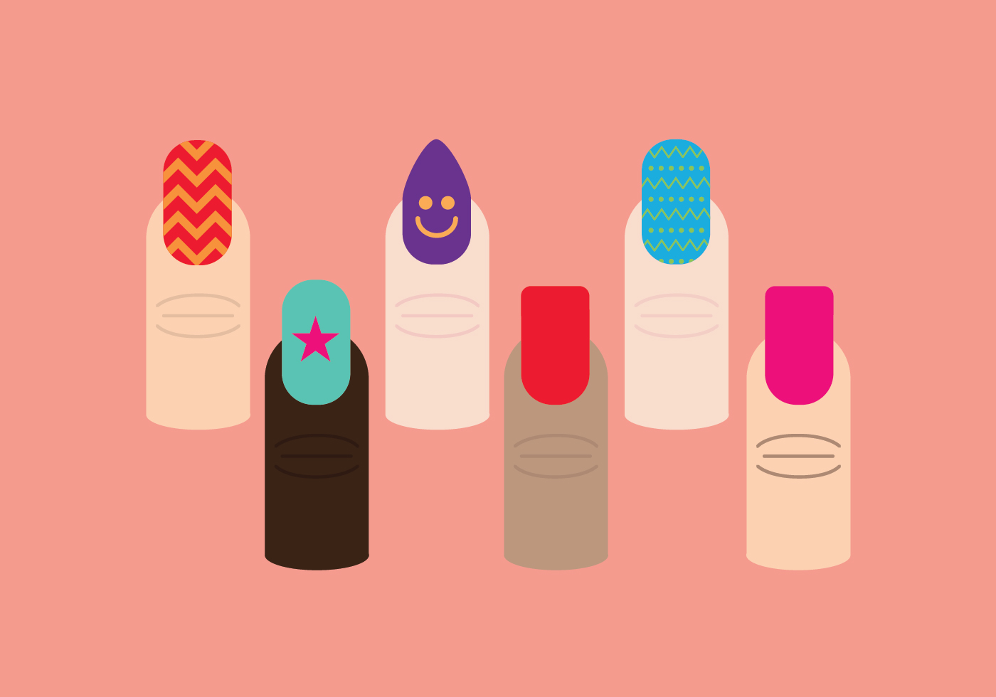 Manicure Nails Vector Pack - Download Free Vector Art ...