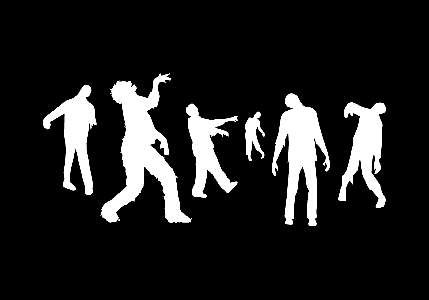 download crawling rotten zombie silhouette stock vector