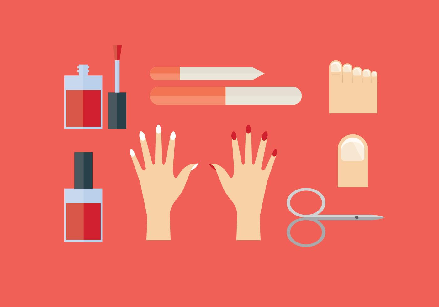 Manicure and Pedicure Vector Set