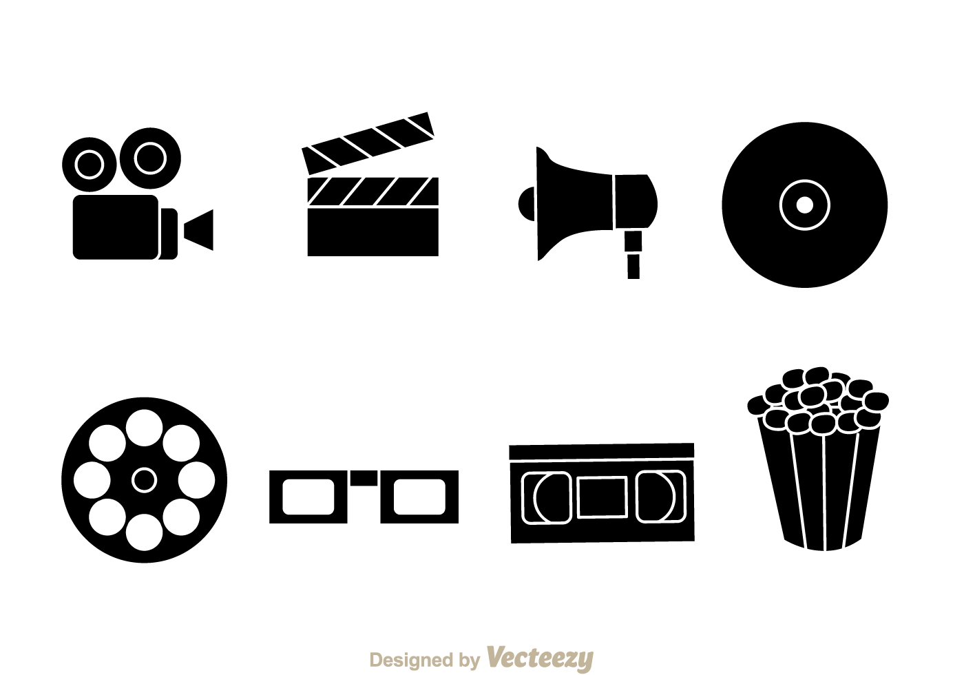 black movie vector icons download free vector art stock