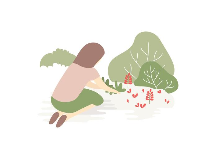 Vektor-Illustration Garten vektor