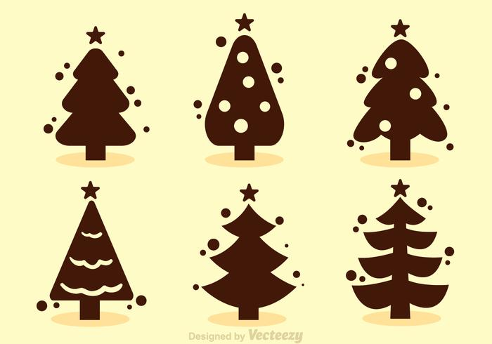 Christmas Tree Silhouette Vectors