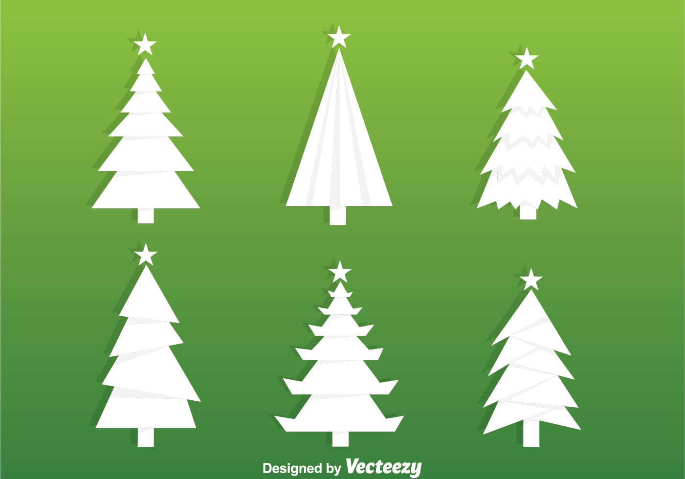 White Christmas Tree Silhouette Vectors Download Free
