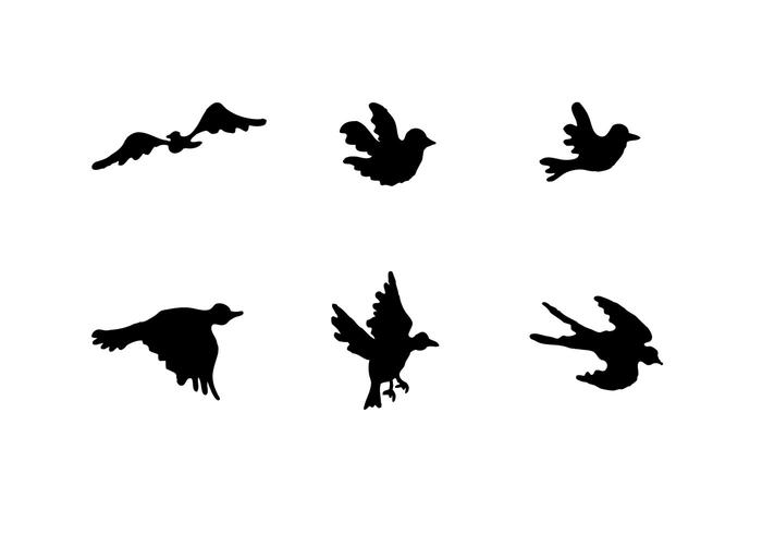 Free Flying Bird Silhouette Vector Series