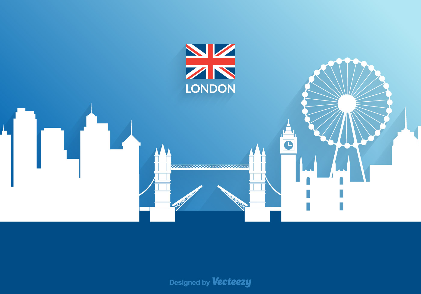 free vector cutout paper london cityscape download free