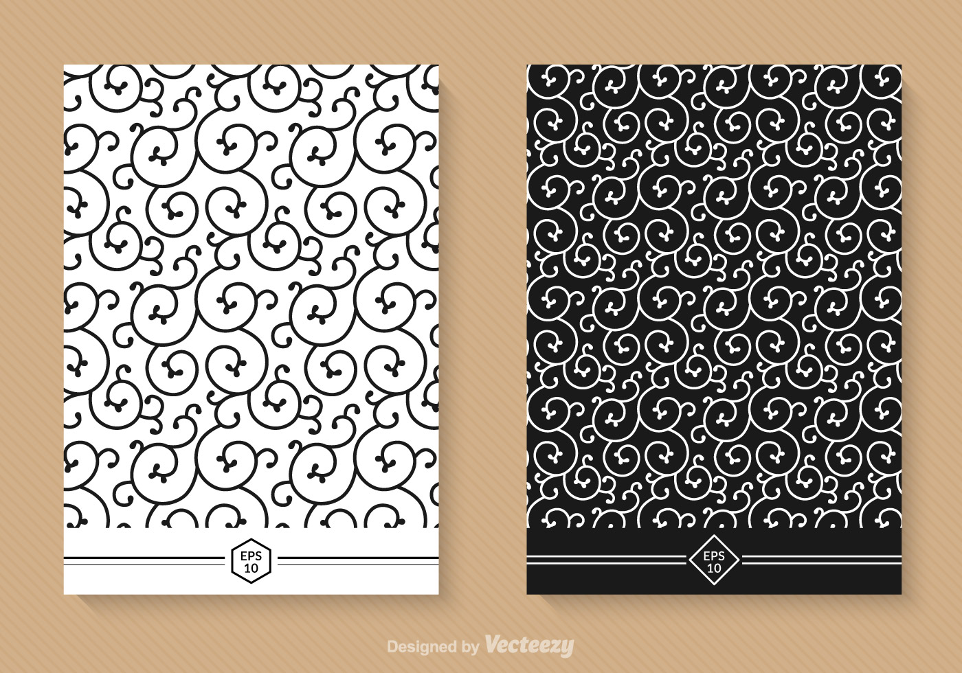 Free Swirly Seamless Vector Patterns Download Free