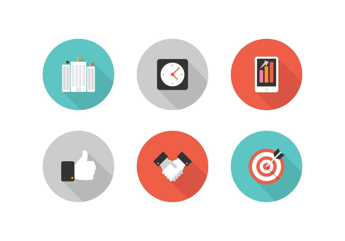 Free Retro Business Vector Icons