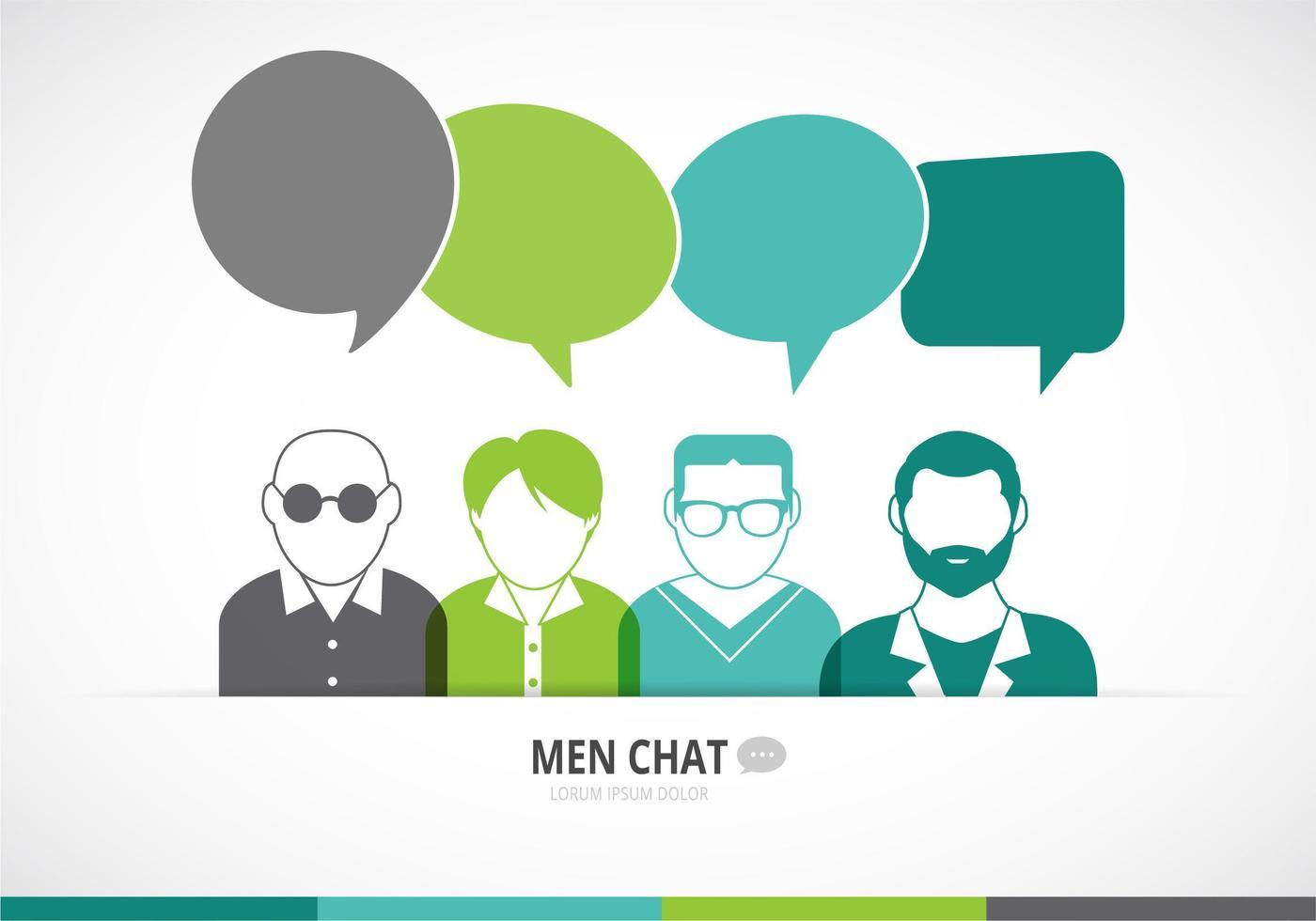 Men Chat Vector