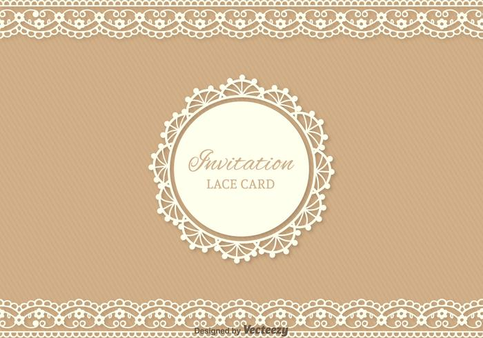 Free Lace Vector Card