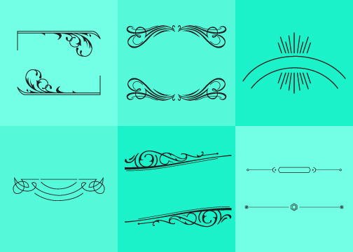 Vector Drawing Lines Html : Fancy line ornament vectors download free vector art