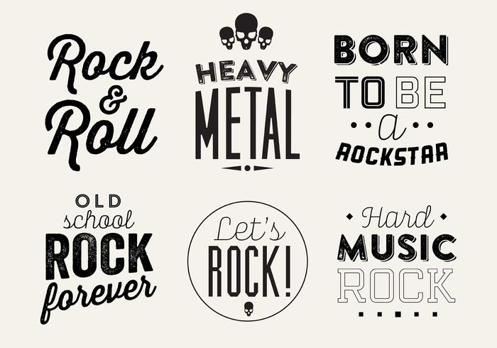 Typographic Vector Background of Rock Music