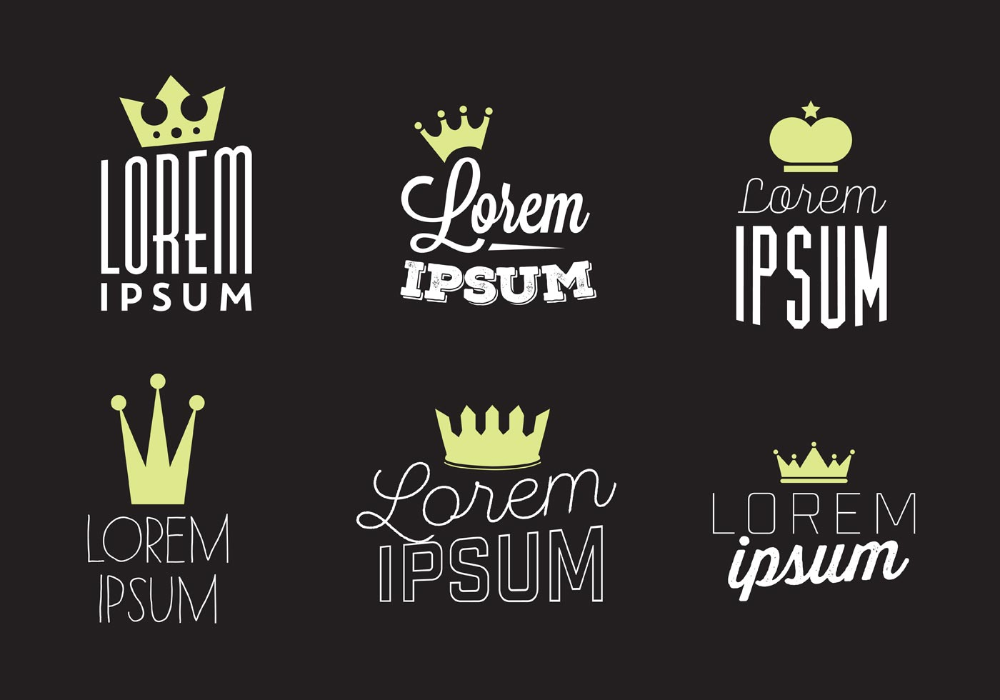 Typographic Vector Background With Crown Logo Download