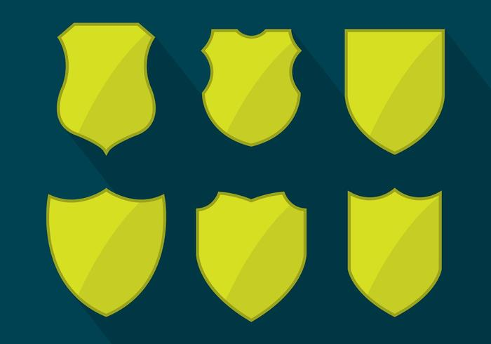 Shield Shapes Vector Set