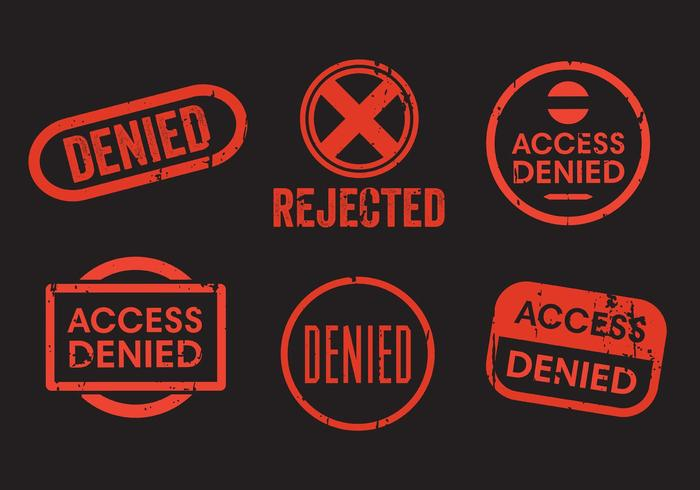 Denied Stamp Vector Set