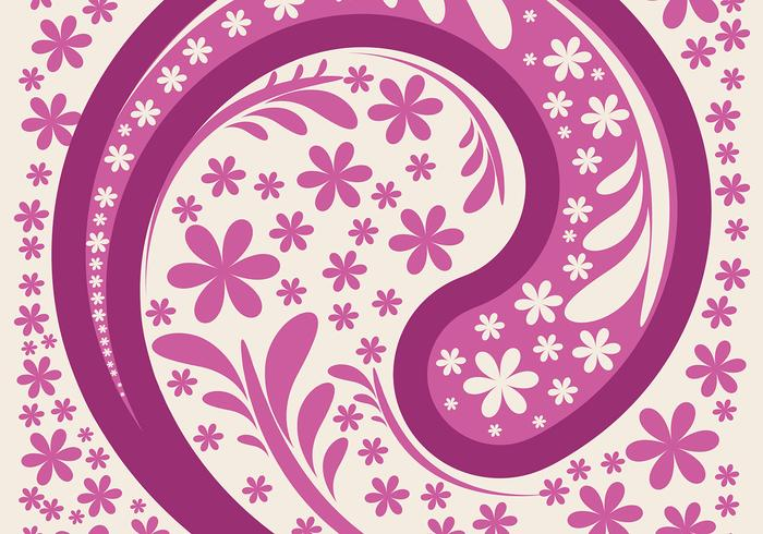 Pink Paisley Background Vector