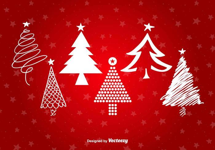 Christmas Tree Stylized shapes