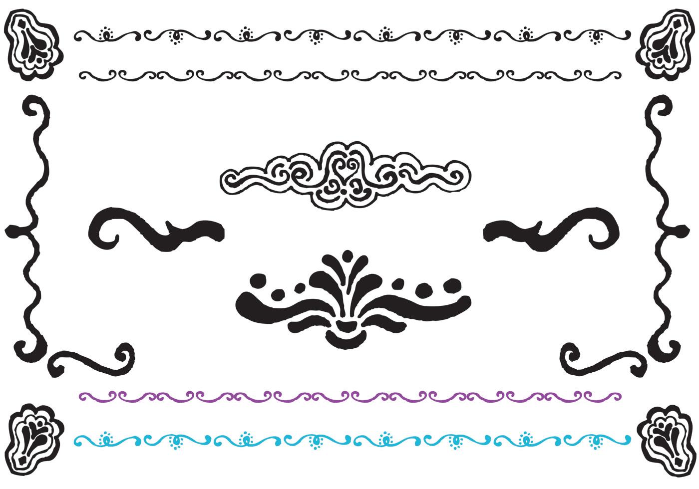 free fancy lines vector series download free vector art