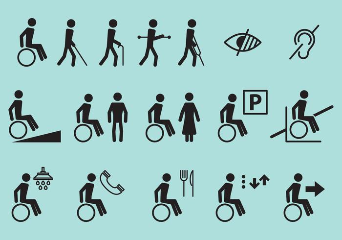 Disability Vector Icons