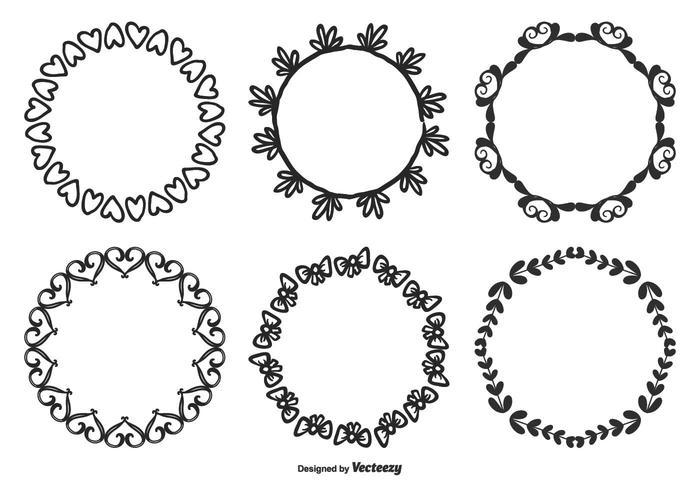 Hand Drawn Style Decorative Frame set