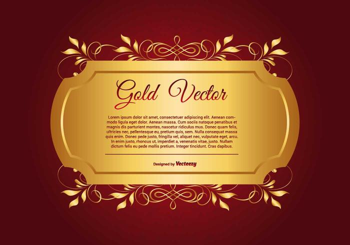 Free Illustration Background Christmas Red Gold: Elegant Gold And Red Background Illustration
