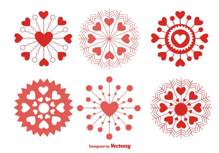 Love Snowflakes vector