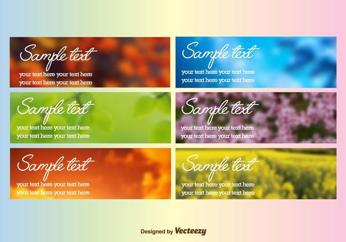 Seasonal Colourful Blurred Backgrounds