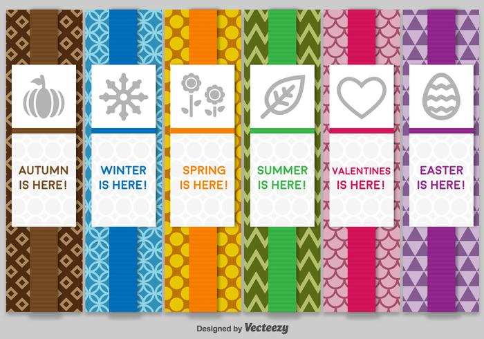 Seasonal Colourful Labels