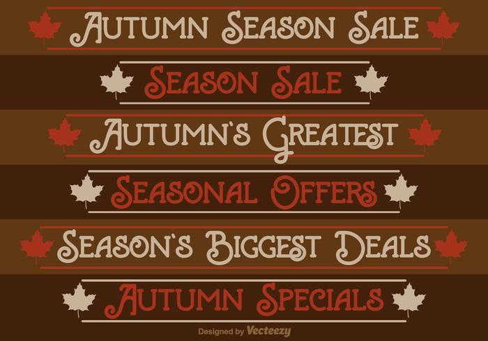 Autumn Season Sale Labels