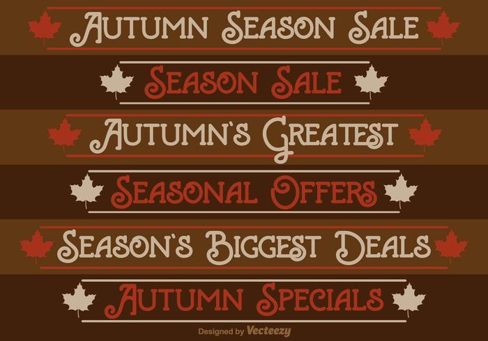 Autumn Season Sale Labels