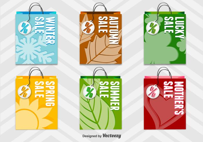 Seasonal 3D Shopping Bags