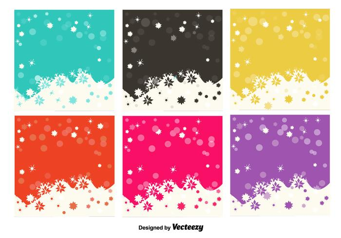 Snowflakes colourful backgrounds