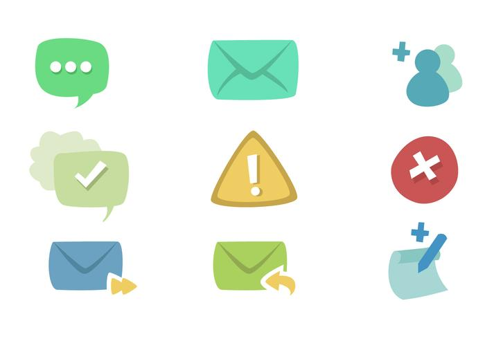 Meldungs Icon Set
