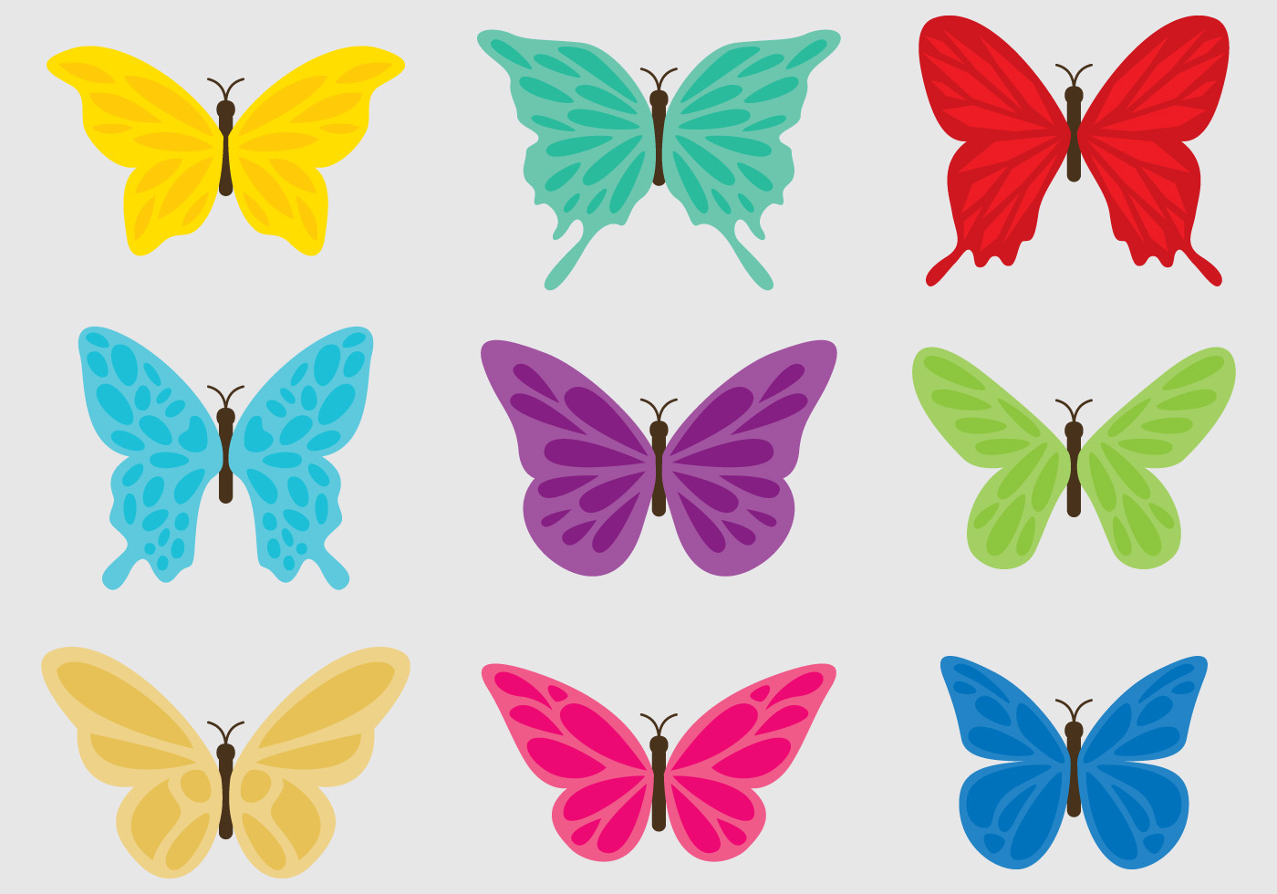 colorful butterflies download free vector art  stock Butterfly Outline Clip Art Butterfly Cartoon Clip Art Black and White