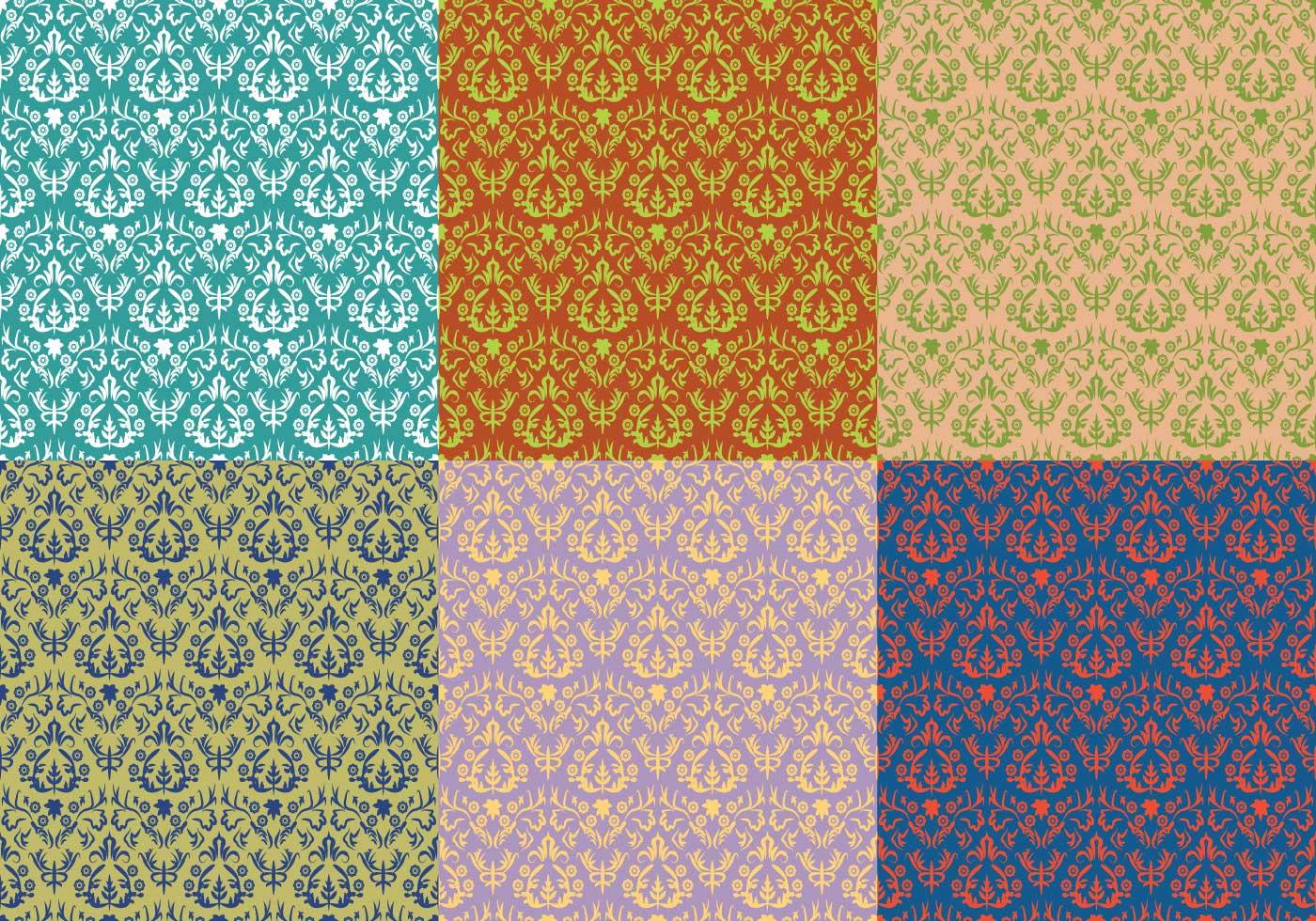 Damask Vintage Floral Pattern Download Free Vector Art
