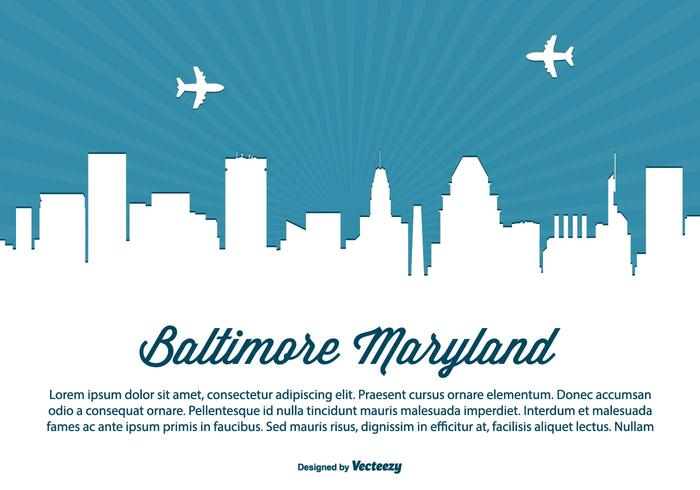 Baltimore Maryland Skyline Illustration