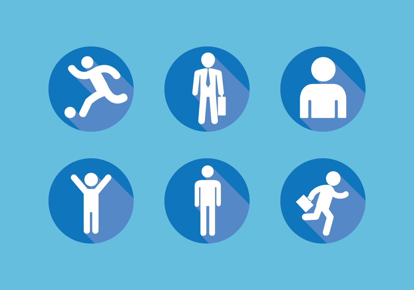man icon set download free vector art stock graphics