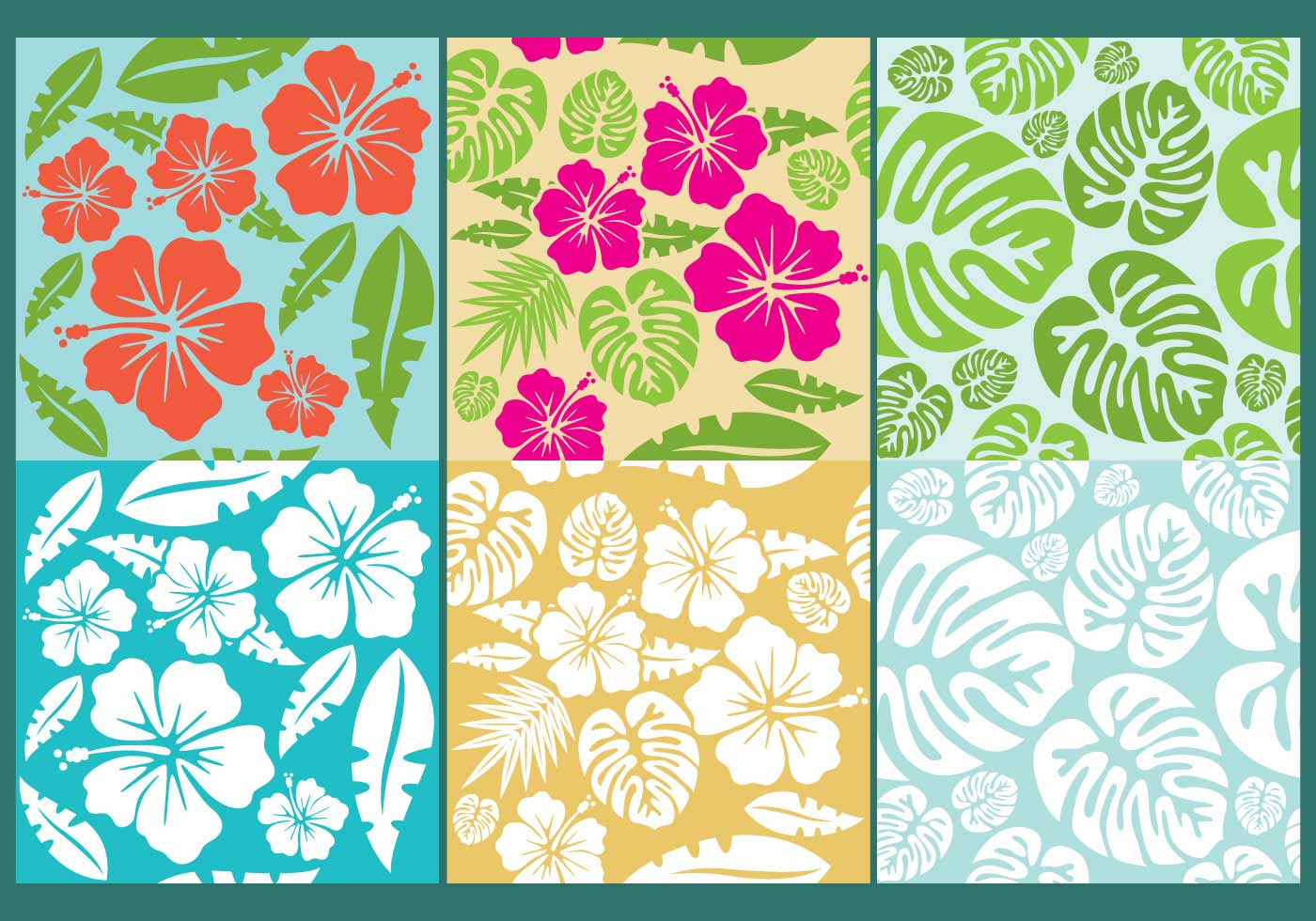 Hawaiian flowers pattern vectors download free vector art stock hawaiian flowers pattern vectors download free vector art stock graphics images izmirmasajfo