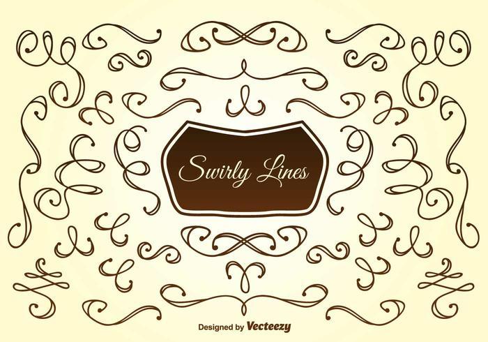 Lignes Swirly dessinées à la main