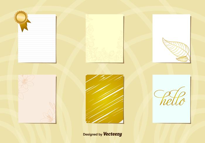 Greeting Gold postcard layouts