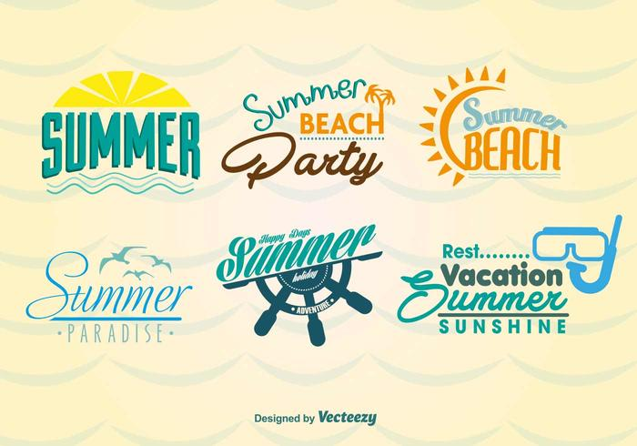 Zomer strand labels