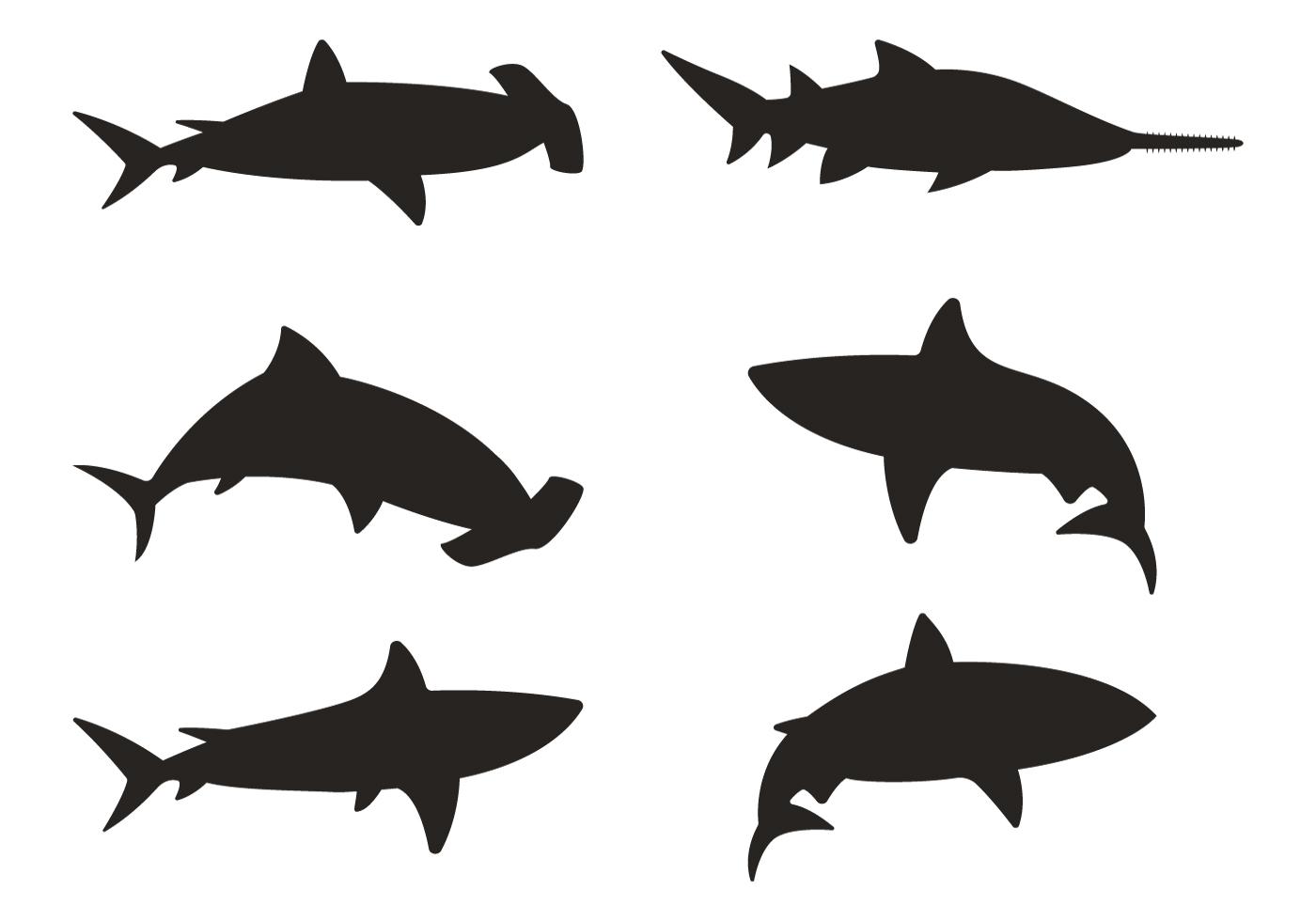 shark jaw silhouette