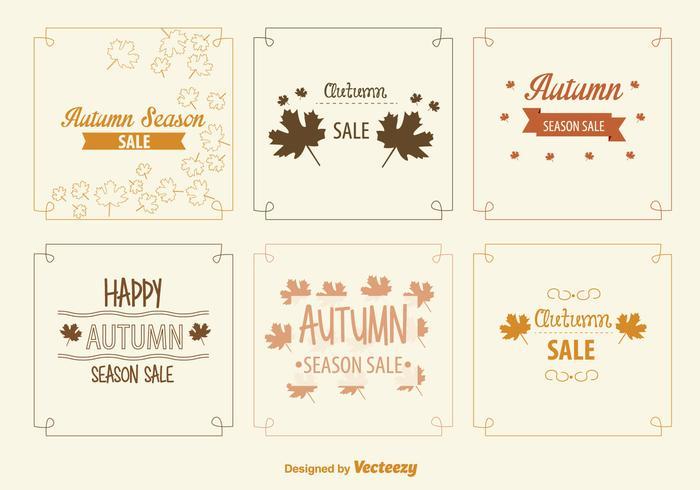 Autumn Sale Signs