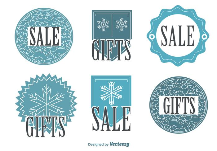 Snowflake Winter Sale Tags