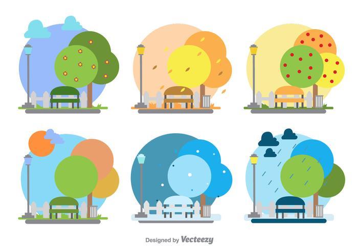 Ilustración estacional del parque