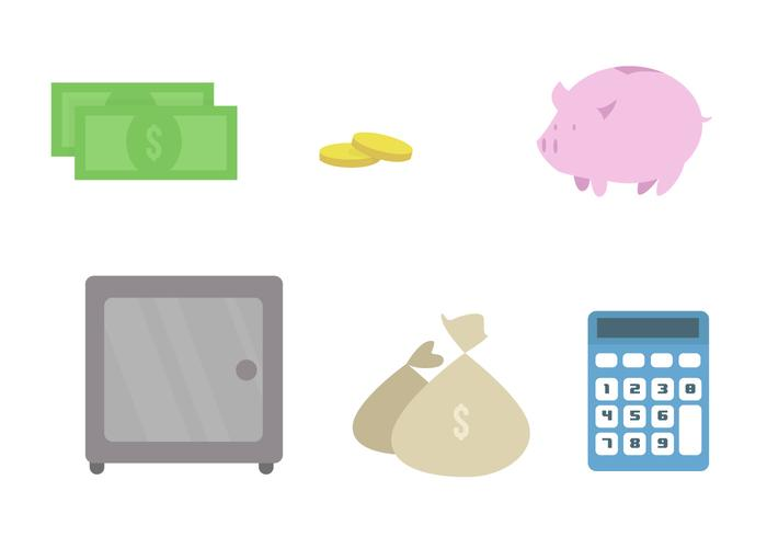 Bank Vector Icon Set