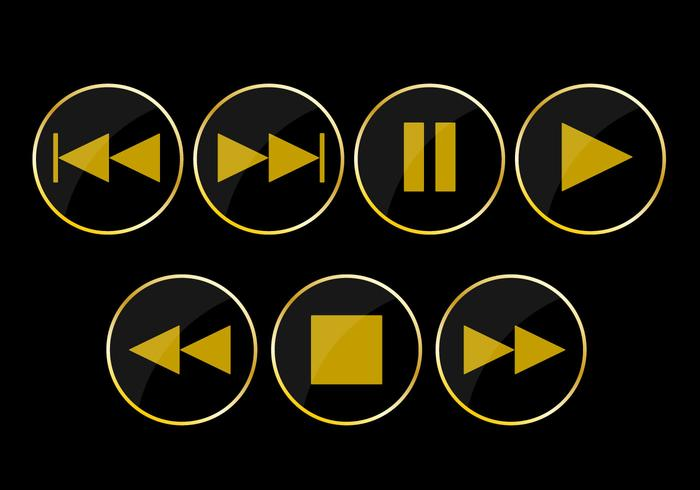 Play Button Vector Icons